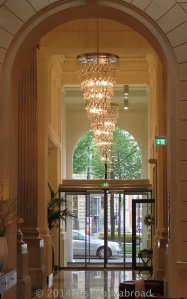 Entrance to the lobby lounge