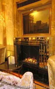 mirrored fireplace