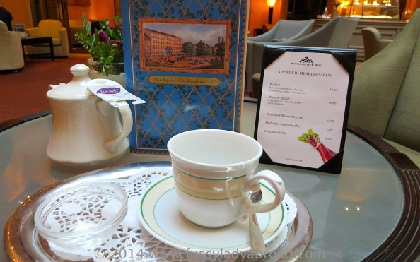A proper cup of tea at Bayerischer Hof Munich