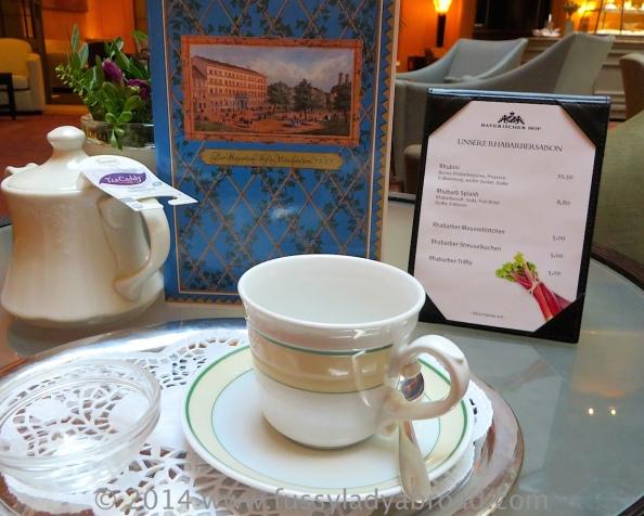 A proper cup of tea at Bayerischer HofMunich