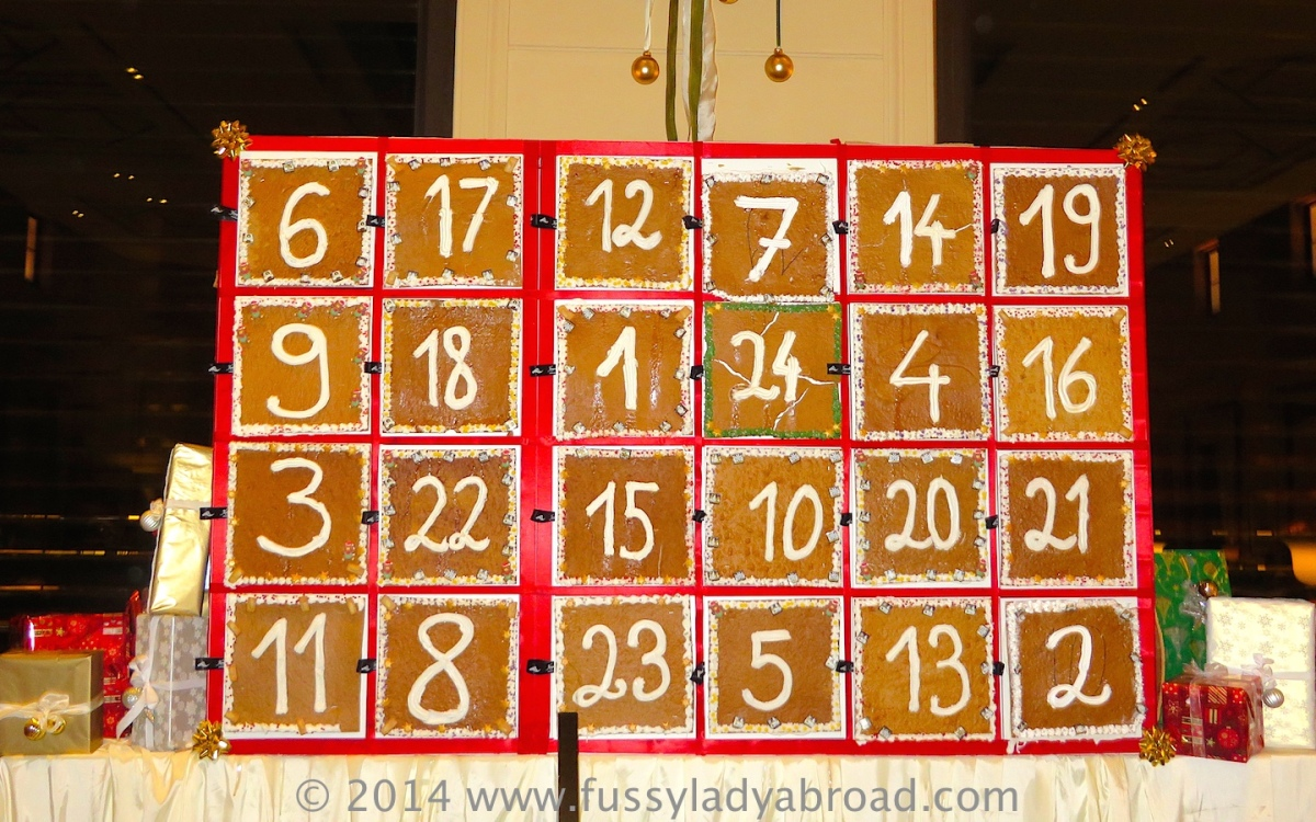 Advent calendar made of gingerbread, Palais Hansen Kempinski, Vienna